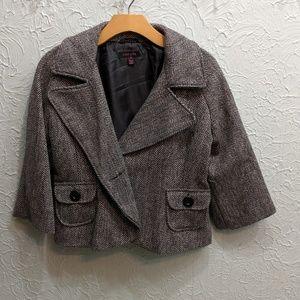 3/4 sleeved crop jacket